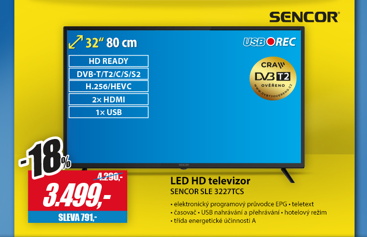 Sencor led hd televizor