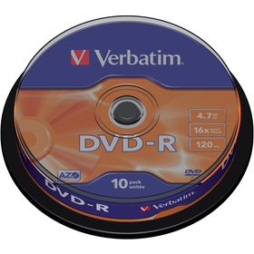 VERBATIM DVD-R 4,7GB 16x 10SP