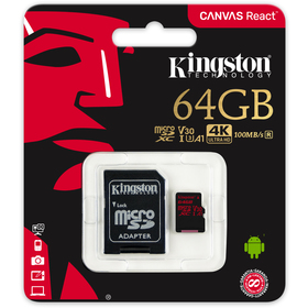 KINGSTON MicroSDXC UHS-I V30 SDCR/64GB