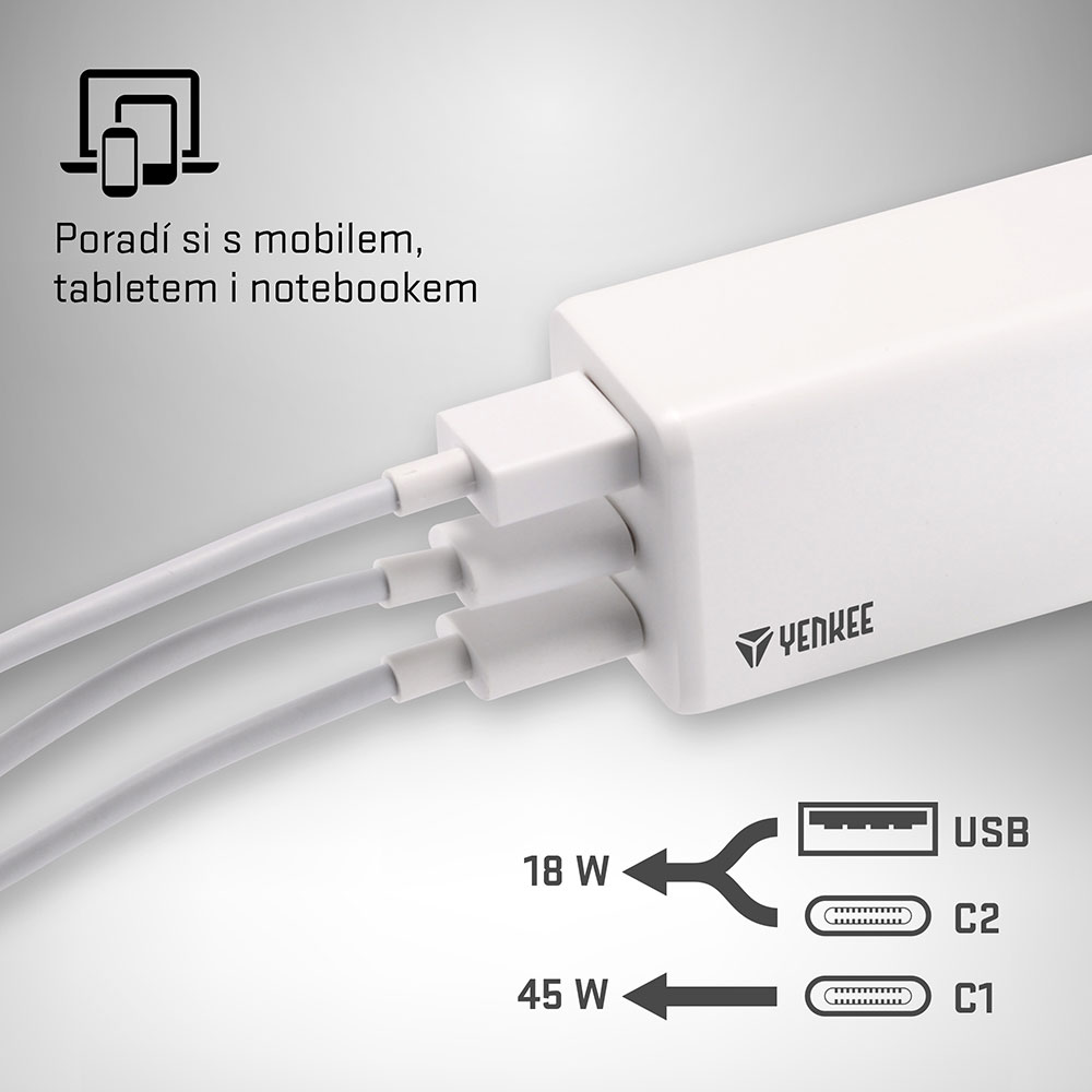 YENKEE YAC 2065 power delivery a quick charge
